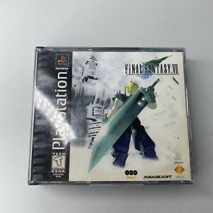 ⭐Final Fantasy VII PlayStation 1 Black Label Complete CIB Tested Authentic⭐👀