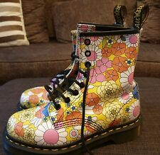 Dr Martens UK 3, EU 36, US 5, pascal floral flower daisy boots Air Wair rare