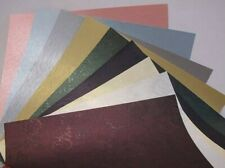 "10 x 1-Sided 12""x12"" Scrapbooking 120gsm Pearlescent Textured Backing Paper"