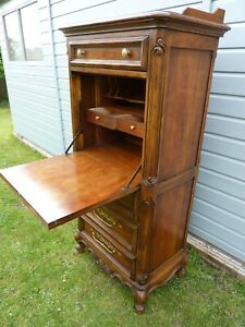 FRENCH STYLE DESK~WRITING BUREAU~ SECRETAIRE 4 DRAWERS~ WELL FITTED INTERIOR
