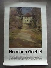 HERMANN GOEBEL - Ausstellungsplakat - 1995 - Förderverein Pforzheim Galerie e.V.