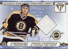 Sergei Samsonov/Bill Guerin Bruins Double Sided Game Worn Jersey Card