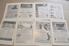 1914-17 WEED Tire Chains advertisements x8, Anti-Skid Chains, Chain Jacks