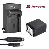 BP-827 3000mAh Li-ion Battery + Charger for Canon BP-807 BP-809 BP-819 Camera US