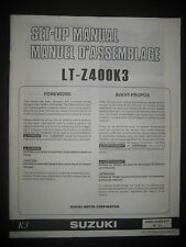 SUZUKI LT-Z400K3 Set Up Manual LT Z400 K3 Set-Up 99505-01003-01T Motorcycle