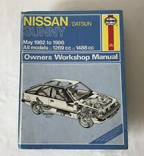 Nissan/Datsun Sunny 1982-1986 All Models Haynes Owners Workshop Manual 895 1988