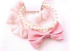 3 Stück zarte Haargummis Scrunchies Haarbinder Zopfgummi Haarband Perlen rosa