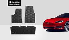 ToughPRO Heavy Duty Black Rubber Custom Fit For 2016-18 Tesla Model S Floor Mats