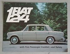 Vintage 1967 Fiat 124 Five Passenger Sedan Deluxe US Brochure