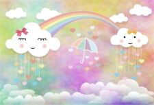 Cartoon Rainbow Cloud Photography Backdrop Show Photo Studio Background 6x4'