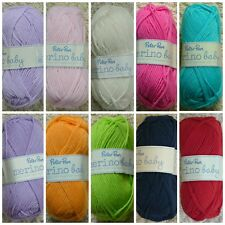 DK Knitting Wool 50g Peter Pan Baby Merino Wool 100% Pure Wool Knitting WoolYarn