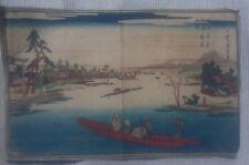 19th Century UTAGAWA HIROSHIGE 歌川 広重 Toto Meisho Massaki boshun no kei UKIYOE-E