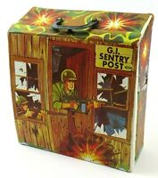 Vintage Ideal G.I. Sentry Post Carry Case Army Figurine Doll Play Box