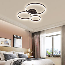 Modern Led Ceiling Light Fixtures Rings Chandelier Lamps Dimmable with Remote Us