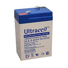 Ultracell Akku UL4.5-6 Bleiakku/ Bleigelakku 6V /4,5Ah Faston 187 - 4,8 mm wartu