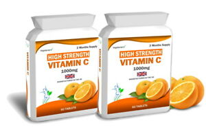 120 Vitamin C 1000mg Tablets Immune Health Support
