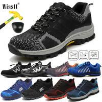 Men's Safety Steel Toe Work Shoes Indestructible Bulletproof Mesh Sport Sneakers
