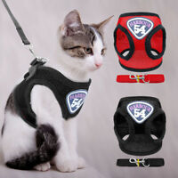 Escape Proof Cat Jacket Harness Leash Set for Walking Pet Mesh Adjustable S-XL