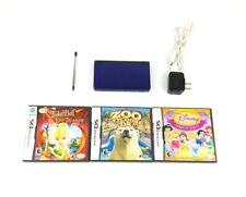 Nintendo DS Lite Console Blue Bundle 3 Games Stylus Pen Charger TESTED VTG HGR12