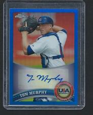 TOM MURPHY 2011 Topps Chrome USA BLUE REFRACTOR AUTO 13/99 Mint - Autograph RC