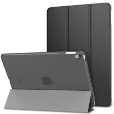 "Smart Magnetic CASE with Hard Back Cover for IPAD 6 9.7"" 2018 Black A1893 A1954"