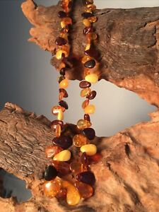 Magnifique Collier Ancien Ambre Longueur 45 Cm