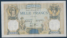 FRANCE - 1000 FRS CÉRÈS & MERCURE Fay n° 38.33 du 26-1-1938. en TTB   D.5625 501