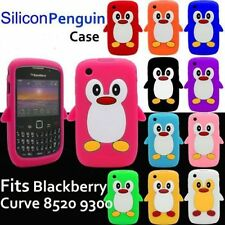 PENGUIN SILICONE SKIN CASE COVER FOR BLACKBERRY CURVE 8520 9300