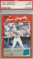 Juan Gonzalez 1990 Donruss Rated Rookie Card #33 MINT 9 Texas Rangers
