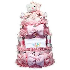 """Silly Phillieâ""""¢ Sweet Baby Diaper Cakes Baby Gift in Pink"""