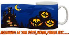 Tazza Personalizzata Happy Hallowen zucche illuminate paesaggio spettrale