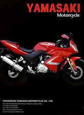 Yamasaki YM150-3C YM150-8B YM125-B4 Motorradprospekt 2002 Motorrad Prospekt Asia