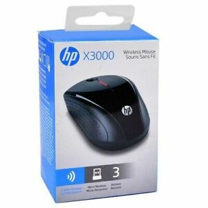 HP X3000 2.4GHz Wireless 3-Button Optical Scroll Mouse w/USB Receiver