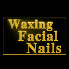 160127 Waxing Facial Nails Cosmetic Makeup Therapy Display Led Light Sign