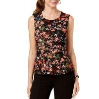 NINE WEST NEW Women's Floral Peplum Blouse Top TEDO