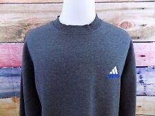 Adidas Gray Crew Neck Logo 90s Track Sweatshirt Pullover Sweater Men's Large Vtg