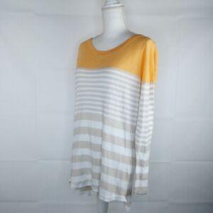 Coco + Carmen Pullover Sweater Women Size L/XL Orange