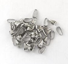 LOT DE 100 BÉLIÈRES SIMPLE couleur acier perles fimo attaches-bd003