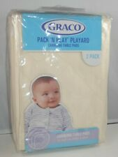 Graco Pack 'N Play Playard Changing Table Pads in Cream 2 Pack Washable New