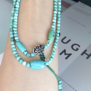 Natural Turquoise Beaded Bracelet Necklace Healing Gemstone Collectable Talisman