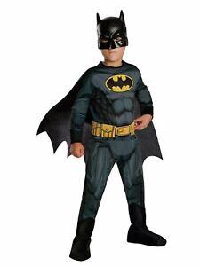 Batman Child Costume Boys Superhero Fancy Dress Up Kids Outfit