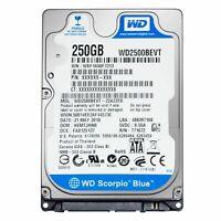 HARD DISK 2,5 SATA HD Disco 100% TESTATO 250GB Pc Portatile VARIE MARCHE
