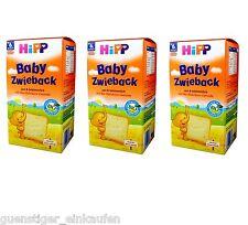 3x 3.5oz Hipp Baby Zwieback ab 6. Month Bio Wheat Nibble tender pink