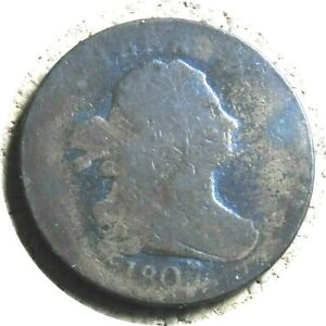 elf Draped Bust Half Cent 1807
