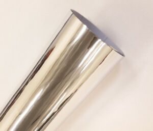 "Chrome Silver 24"" Intermediate Cutting Craft Sign Vinyl Adhesive Film Roll"