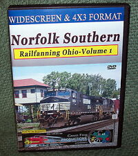 "20216 TRAIN VIDEO DVD ""NORFOLK SOUTHERN OHIO RAILFANNING"" VOL.1 WIDESCREEN"