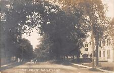 Thomaston Maine~910 Knox Street~Neighborhood Homes~Horse & Buggy~1912 RPPC