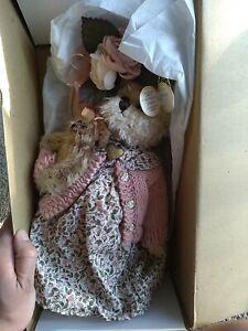 """The Bearington Collection 14"""" Daisy and Belle Teddy Bear 1069 NWT"""