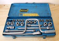 Vintage Hazet 900 AWZ Socket set,Tool Box