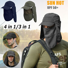 Men Ear Flap Sun Visor Hat Neck Cover Ajustable Baseball Cap Fishing Outdoor US